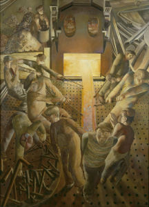 Shipbuilding on the Clyde - The Furnaces by Sir Stanley Spencer