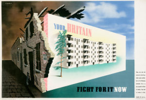 Your Britain - Fight for it Now (Housing) by Abram Games