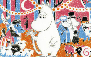 Moomintroll Holding Tail by Tove Jansson