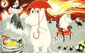 Moomintroll under Umbrella by Tove Jansson