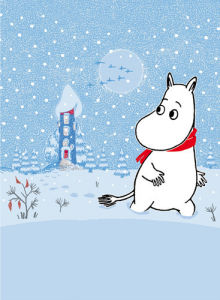 Moomin in the Snow by Tove Jansson
