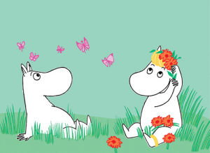 Moomintroll and Snorkmaiden by Tove Jansson