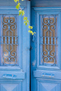 Behind the blue door by Kim Sayer
