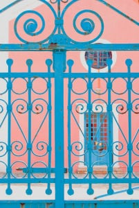 Fancy gateway with fancy colours by Kim Sayer