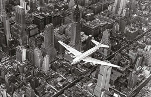DC-4 over Manhattan by Margaret Bourke-White