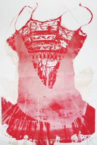 Red Dress by Adeline Meilliez