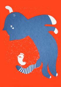 Blue Cat by Adeline Meilliez