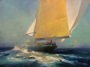White Spinnaker by John Harris