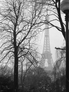 Eiffel Tower in the winter mist, 1963 by Alan Scales