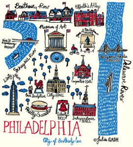 Philadelphia Cityscape by Julia Gash