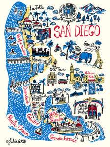 San Diego Cityscape by Julia Gash