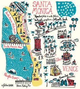 Santa Monica and Venice Cityscape by Julia Gash