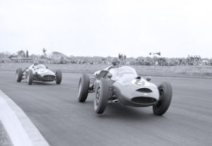 Graham Hill in pursuit, Silverstone by Anonymous