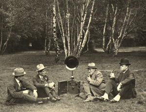 Hats, spats and outdoor radio by Anonymous