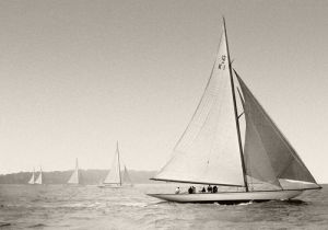 Yacht racing, Cowes c.1930 by Anonymous