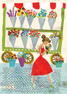 Flower Stall by Louise Cunningham