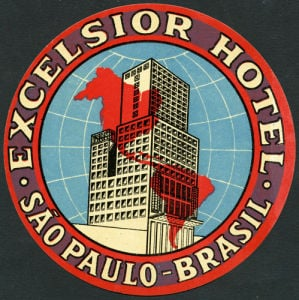 Excelsior Hotel Label by Anonymous
