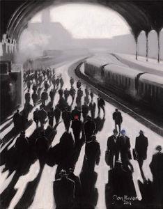 Victoria Station 1934 by Jon Barker