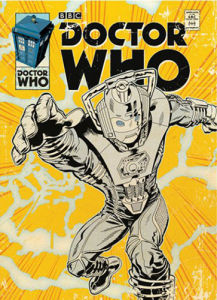 Doctor Who - Cyberman Comic by Anonymous