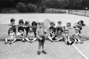 Kindergarten Tennis 1973 by Anonymous
