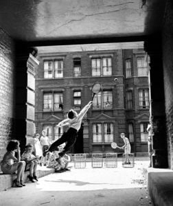 Back Street Tennis 1961 by Anonymous