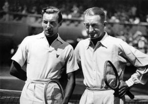 Fred Perry and Jack Crawford 1934 by Anonymous