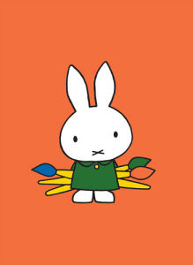Miffy and Paintbrushes by Dick Bruna