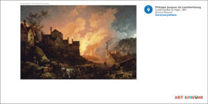 Coalbrookdale by Night by Philippe Jacques de Loutherbourg