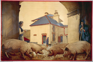 Empire Marketing Board - Pigs in the Irish Free State by John Keating