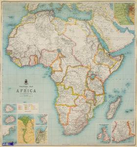 Political Map of Africa, 1904 by J G Bartholomew