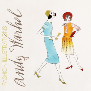 Two Female Fashion Figures, c.1960 by Andy Warhol