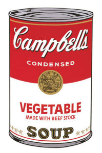 Campbell's Soup I, 1968 (vegetable) by Andy Warhol