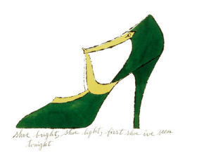 Shoe bright, shoe light, first shoe I've seen tonight, 1955 by Andy Warhol