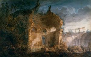 Sir John Soane's Rotunda at the Bank of England in Ruins by Joseph Michael Gandy