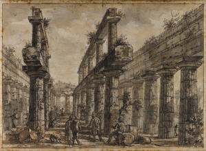 Paestum, Italy, Interior of the Temple of Neptune from the West by Giovanni Battista Piranesi