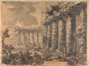 Paestum, Italy, Basilica and Temple of Neptune by Giovanni Battista Piranesi