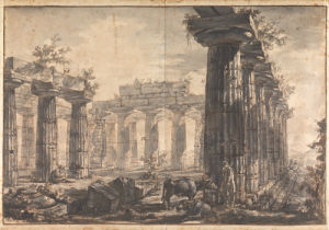 Paestum, Italy Interior of the Basilica, from the West by Giovanni Battista Piranesi