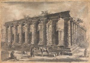 Paestum, Italy Exterior of the Basilica by Giovanni Battista Piranesi