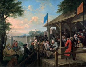 An Election III: The Polling by William Hogarth