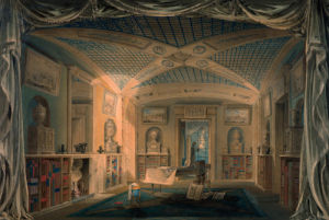 Design perspective for the decoration of the library, Pitzhanger Manor. by Joseph Michael Gandy