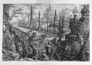 Ancient Circus of Mars with neighbouring Monuments viewed at the Via Appia by Giovanni Battista Piranesi