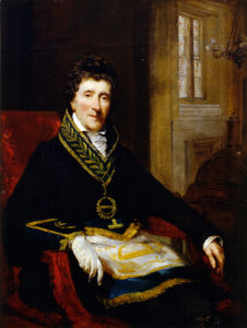 Sir John Soane, in Masonic Costume, as Grand Superintendent and President of the Board of Works by John Jackson