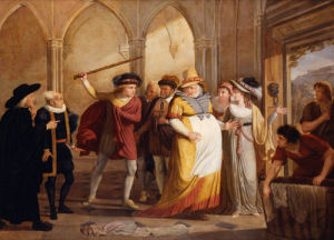 Scene in 'The Merry Wives of Windsor' (from Act IV, Scene 2 of the play by William Shakespeare) by James Durno