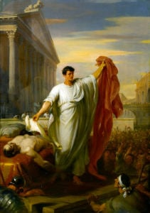 Marc Antony Reading the Will of Caesar by William Hilton