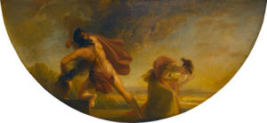 The Opening of Pandora's Vase (Library-Dining Room ceiling painting, 6 of 6) by Henry Howard