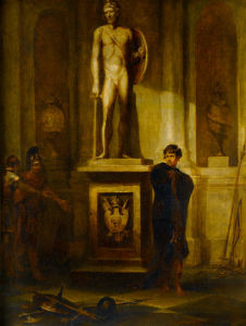 A Scene in Coriolanus, with a Portrait of the Late J. P. Kemble as Coriolanus by Peter Francis Bourgeois
