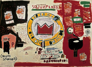 Untitled (Crown) 1988 by Jean-Michel Basquiat