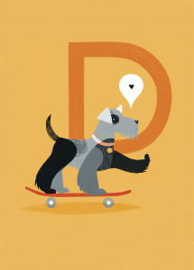 D is for Dog by Sugar Snap Studio