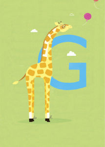 G is for Giraffe by Sugar Snap Studio
