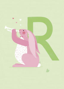 R is for Rabbit by Sugar Snap Studio